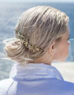 Kela Embellished Brass Crown Styled
