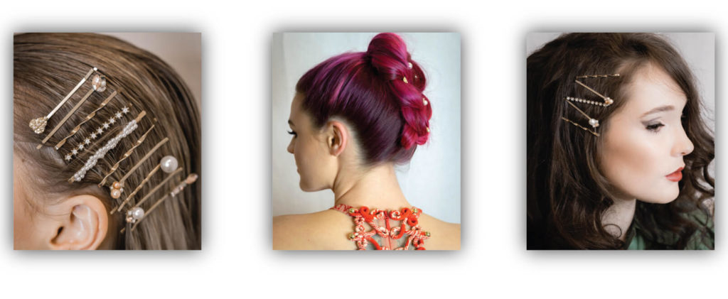 Hair styles with hair clip accessories