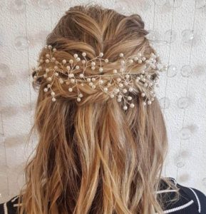 Deb hairstyles half upstyle with accessory