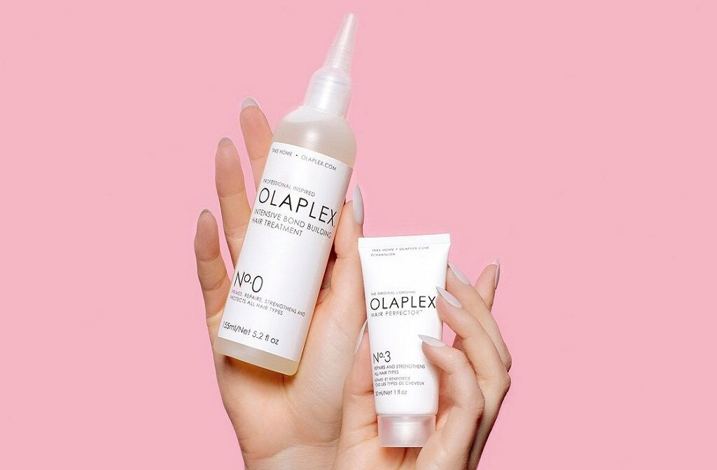 Olaplex No.0 and No.3 hair treatments