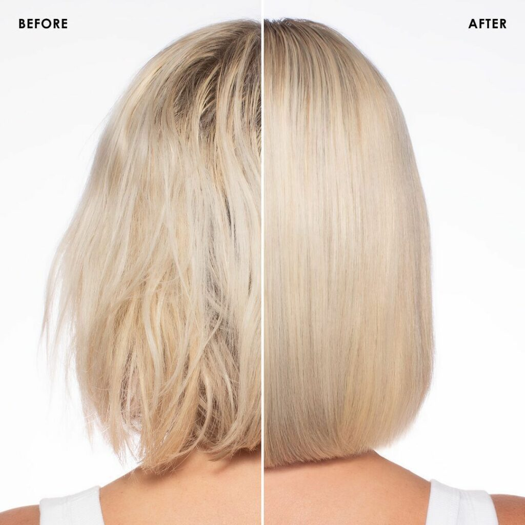 olaplex-no-0-blonde before and after comparison